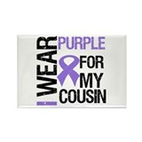 IWearPurpleCousin Rectangle Magnet (10 pack)