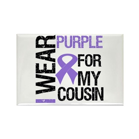 IWearPurpleCousin Rectangle Magnet
