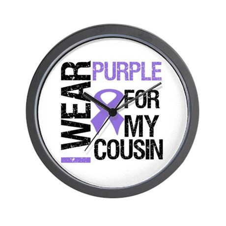 IWearPurpleCousin Wall Clock