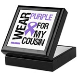 IWearPurpleCousin Keepsake Box