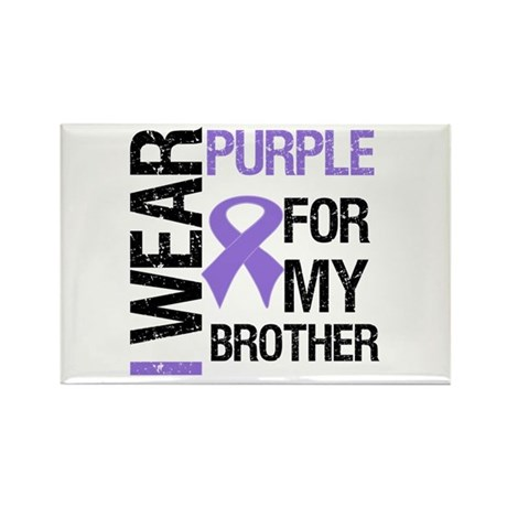 IWearPurpleBrother Rectangle Magnet