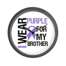 IWearPurpleBrother Wall Clock