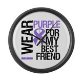 IWearPurpleBestFriend Large Wall Clock