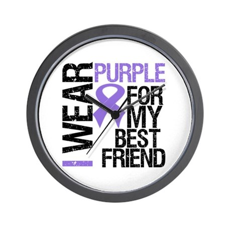 IWearPurpleBestFriend Wall Clock