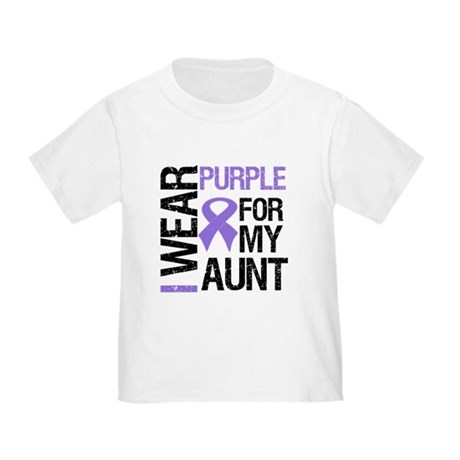IWearPurple Aunt Toddler T-Shirt