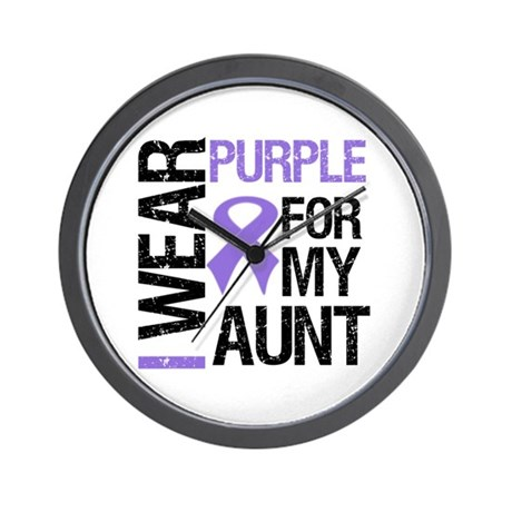 IWearPurple Aunt Wall Clock