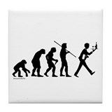 Waiter Evolution Tile Coaster