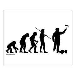 Painter Evolution Small Poster