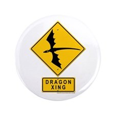 "Dragon XING 3.5"" Button"