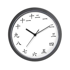 Chinese Character Wall Clock
