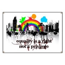 Equality is a right! Banner