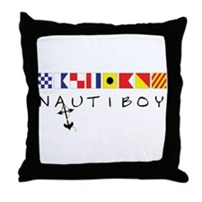 Nautiboy Throw Pillow