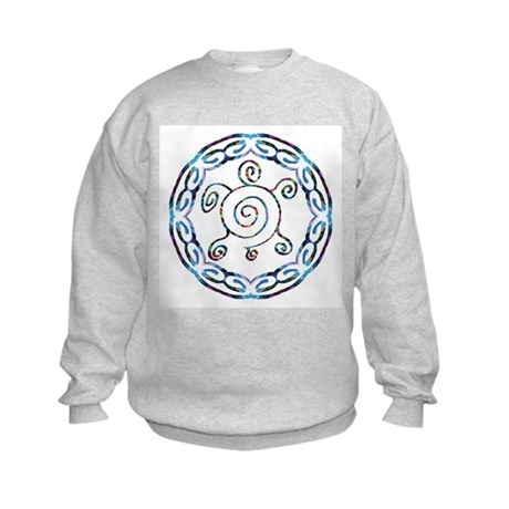 Spiral Turtles Kids Sweatshirt