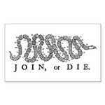 Join or Die 2009 Rectangle Sticker 10 pk)