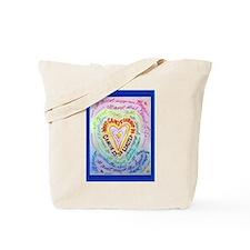 Rainbow Heart Cancer Tote Bag
