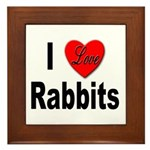 I Love Rabbits Framed Tile