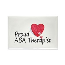 Proud ABA Therapist Rectangle Magnet