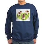 Silver Grey Dorking Chicks Sweatshirt (dark)