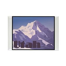 Utah Mountains Rectangle Magnet