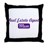 Real Estate Agent mom Throw Pillow