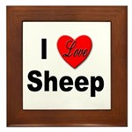 I Love Sheep Framed Tile