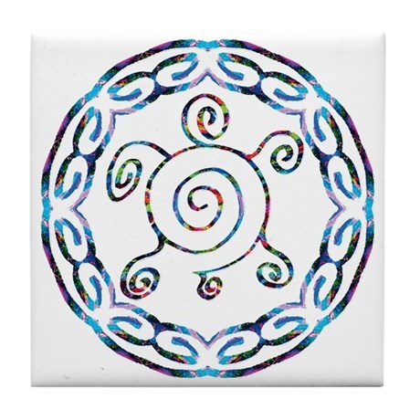 Spiral Turtles Tile Coaster