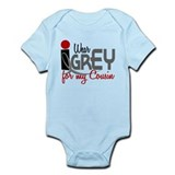 I Wear Grey For My Cousin 32 Infant Bodysuit