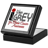 I Wear Grey For BC Awareness 32 Keepsake Box