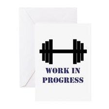 Gym Work In Progress Greeting Cards (Pk of 10)