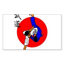 Judo Glory Rectangle Sticker 10 pk)