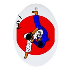 Judo Glory Oval Ornament