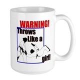 Throws Like a Girl Coffee Mug