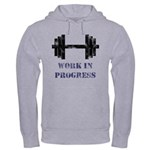 Gym Work In Progress Distressed Hooded Sweatshirt