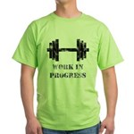 Gym Work In Progress Distressed Green T-Shirt