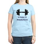 Gym Work In Progress Distressed Women's Light T-Sh