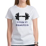 Gym Work In Progress Distressed Women's T-Shirt