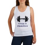 Gym Work In Progress Distressed Women's Tank Top
