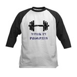 Gym Work In Progress Distressed Kids Baseball Jers