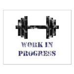 Gym Work In Progress Distressed Small Poster