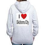 I Love Oklahoma City (Back) Women's Zip Hoodie