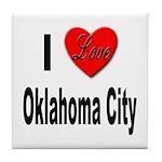 I Love Oklahoma City Tile Coaster