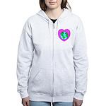 Love Our Planet Women's Zip Hoodie