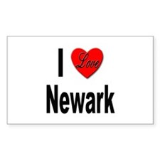 I Love Newark Rectangle Decal