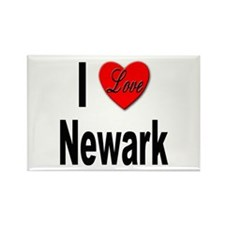 I Love Newark Rectangle Magnet (10 pack)