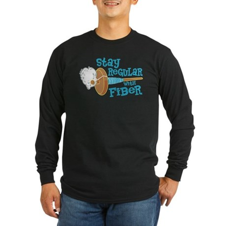 Stay Regular Long Sleeve Dark T-Shirt