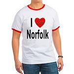 I Love Norfolk Ringer T