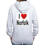 I Love Norfolk (Back) Women's Zip Hoodie