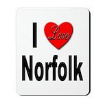I Love Norfolk Mousepad