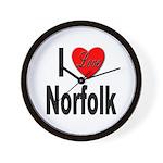 I Love Norfolk Wall Clock