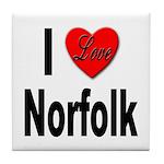 I Love Norfolk Tile Coaster